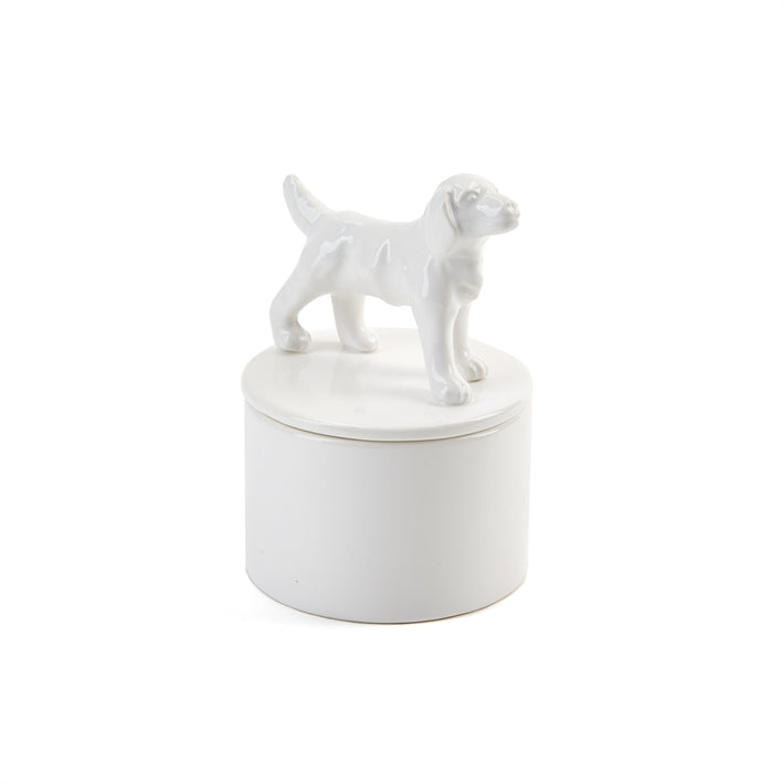"""Best in Show"" White Porcelain Covered Boxes"