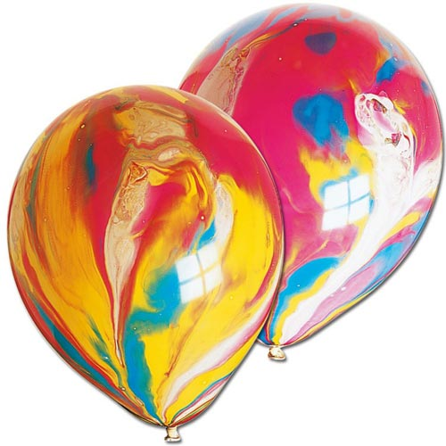 Marble Rainbow Balloons, BM-Balloon Market, Putti Fine Furnishings