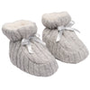 Elegant Baby Cable Knit Booties - Grey, EB-Elegant Baby, Putti Fine Furnishings