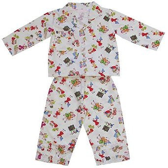 Girls at Play Pyjamas - 2 to 3 years (Special order 2 weeks) Children's Clothing - Powell Craft Uk - Putti Fine Furnishings Toronto Canada