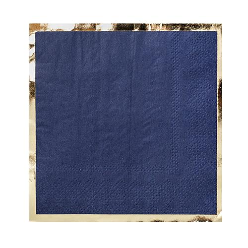 Posh Navy & Gold Paper Cocktail Napkins  | Putti Hanukkah Celebrations