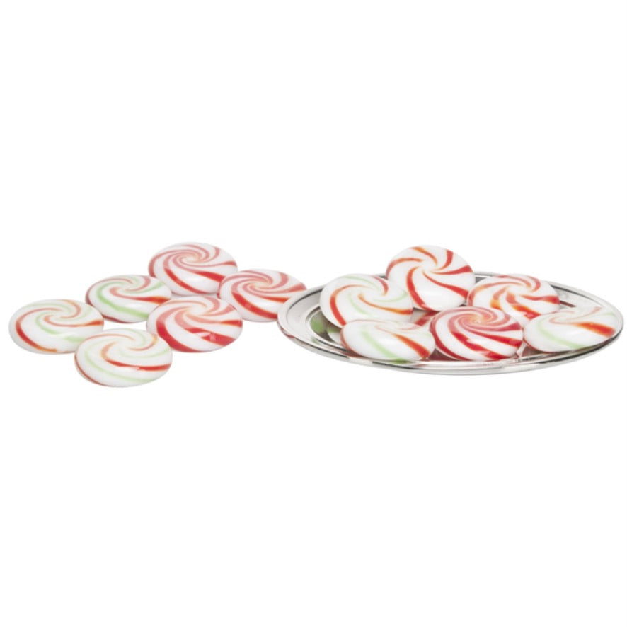 Miniature Peppermint Twist Candy on Tray Ornament
