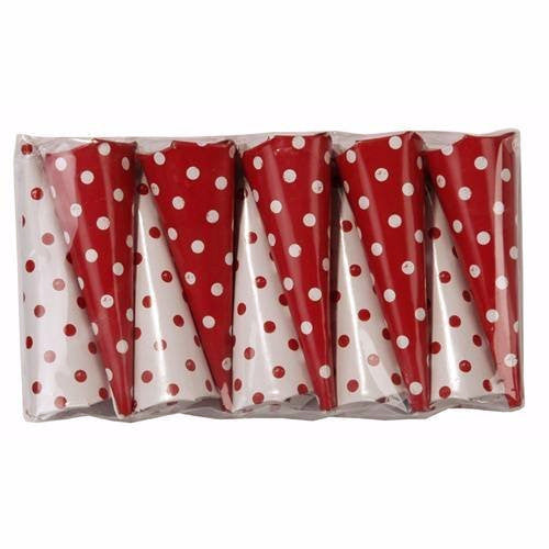 Red & White Spot Party Poppers, TT-Talking Tables, Putti Fine Furnishings