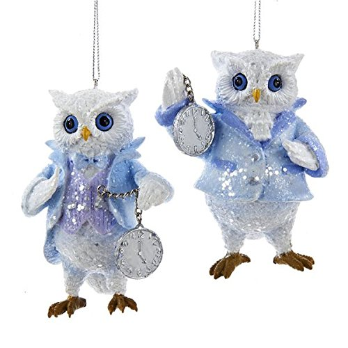 Kurt Adler Frosted Kingdom Owl Ornament