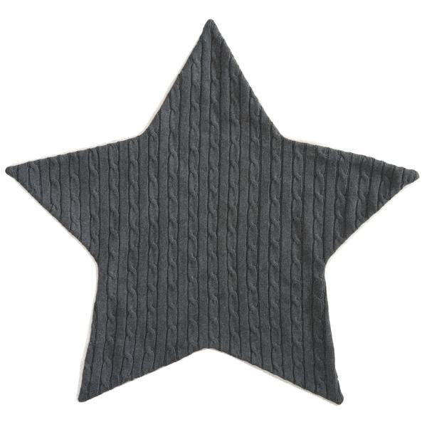 Cable Star Blanket - Charcoal Gray, EB-Elegant Baby, Putti Fine Furnishings