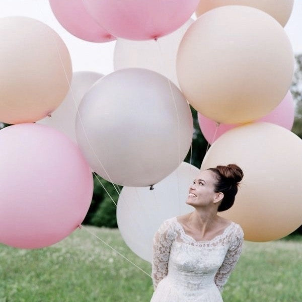 "Giant Round Balloon 30""- Pearlized Pastel Pink"