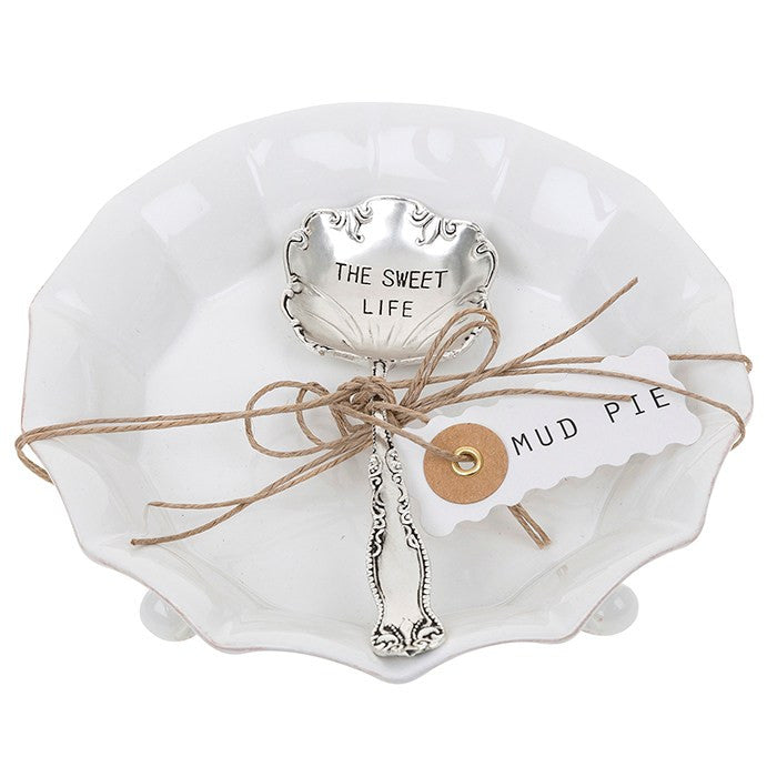"""The Sweet Life"" Candy Dish & Spoon-Serving Pieces-MP-Mud Pie-Putti Fine Furnishings"
