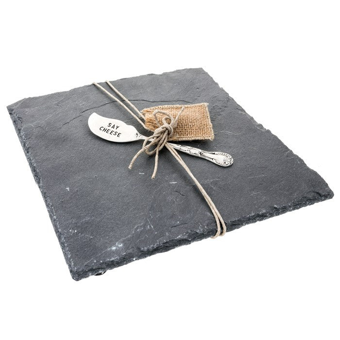 Slate Cheese Board with Knife