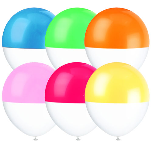 Two Toned Dipped Rainbow Assortment Balloons, BM-Balloon Market, Putti Fine Furnishings