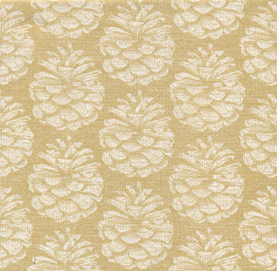 "Francoise Paviot ""Pinecone"" Dinner Napkin - Gold, FP-Francoise Paviot, Putti Fine Furnishings"