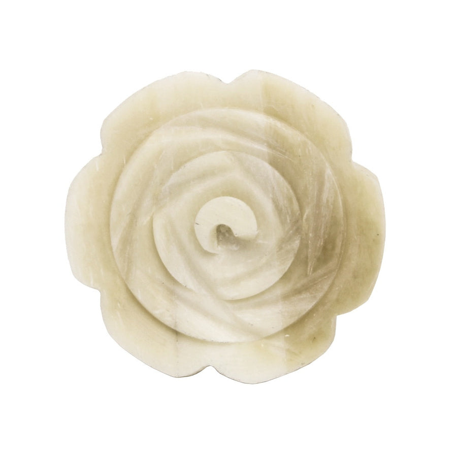 Bone Finish Flower Knob