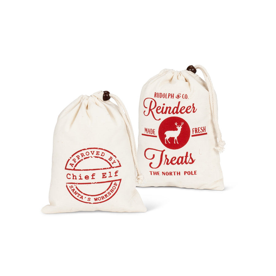Christmas Canvas Treat Bags - Small