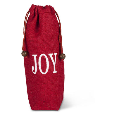 Red Word Wine Bags - Joy Christmas - AC-Abbott Collection - Putti Fine Furnishings Toronto Canada - 4