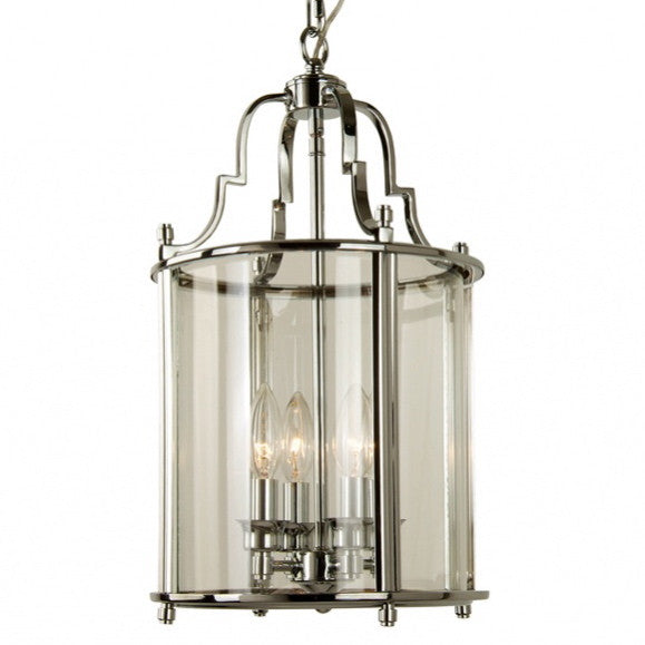 Small Chrome Lantern-Ceiling Fixture-BI-Bethel International-Putti Fine Furnishings