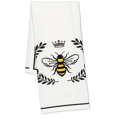 Bee in Crest Tea Towel  | Putti Fine Furnishings