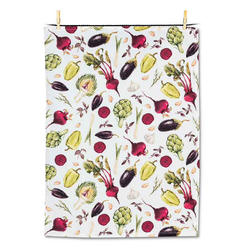 Allover Veggie Tea Towel | Putti Canada