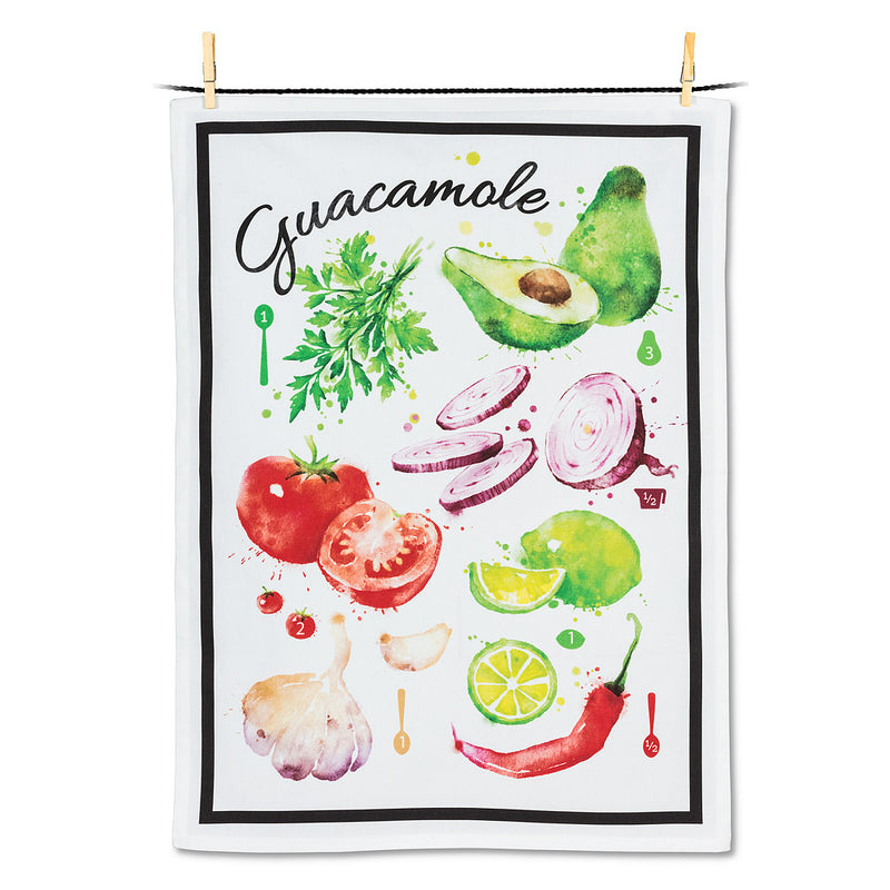 Guacamole Recipe Tea Towel