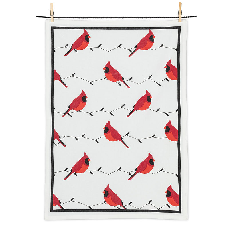Allover Cardinals Tea Towels | Putti Christmas Canada