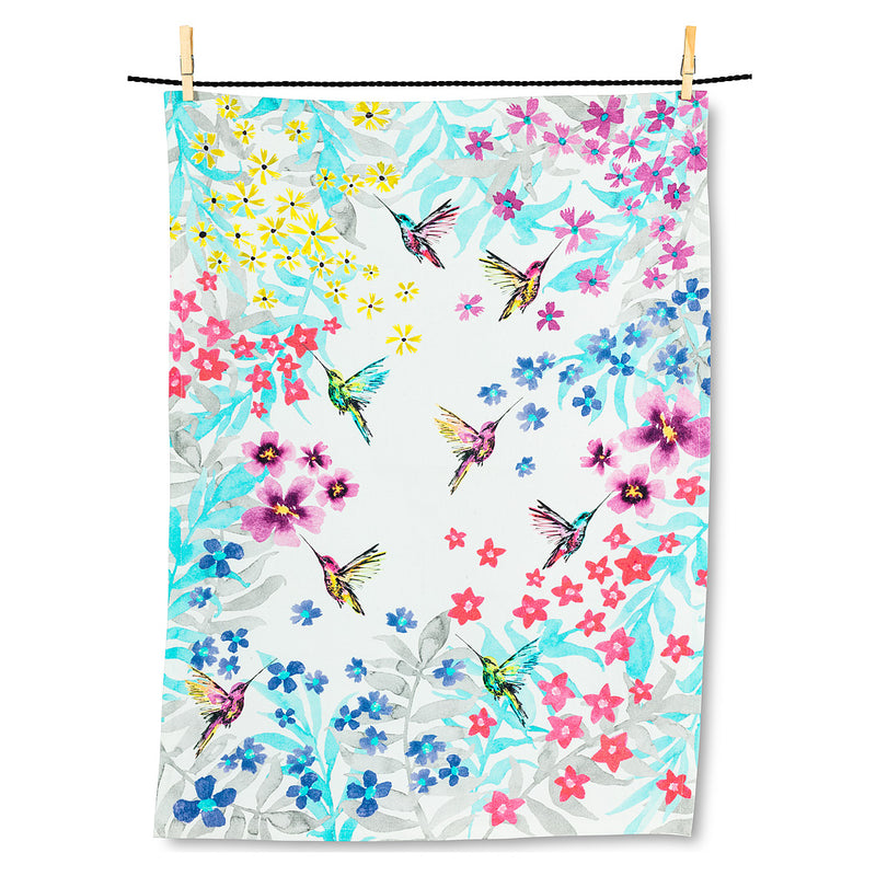 Hummingbird Garden Tea Towel  | Putti Fine Furnishings