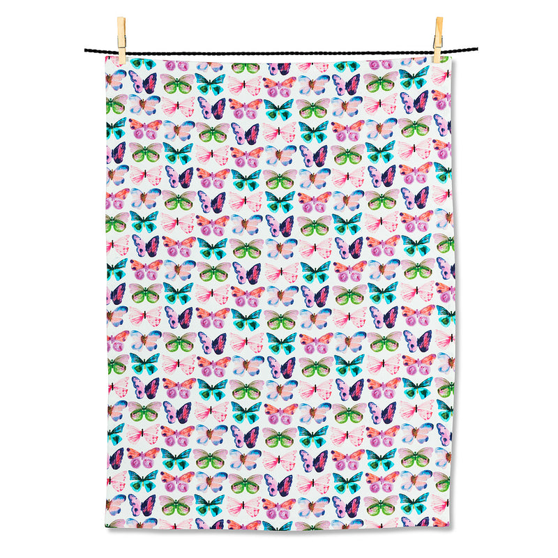 Watercolour Butterfly Tea Towel | Putti Fine Furnishings