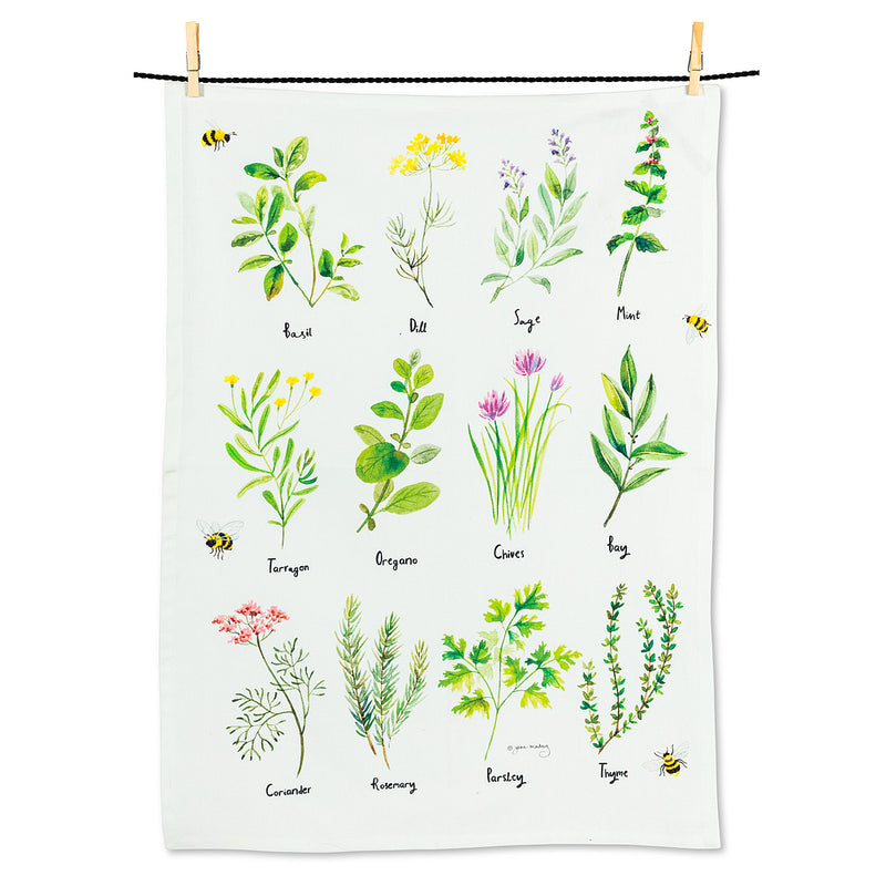 Twelve Herbs Tea Towel | Putti Fine Furnishings