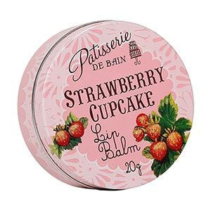 """Patisserie de Bain"" Strawberry Cupcake Lip Balm-Bath Products-Rose and Co.-Putti Fine Furnishings"