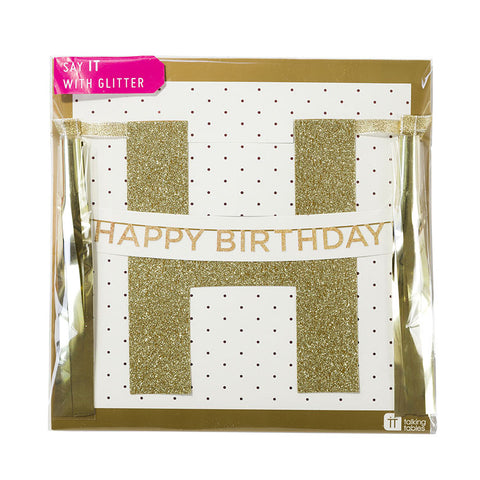 "Say It With Glitter ""Happy Birthday"" Banner -  Party Supplies - Talking Tables - Putti Fine Furnishings Toronto Canada - 1"