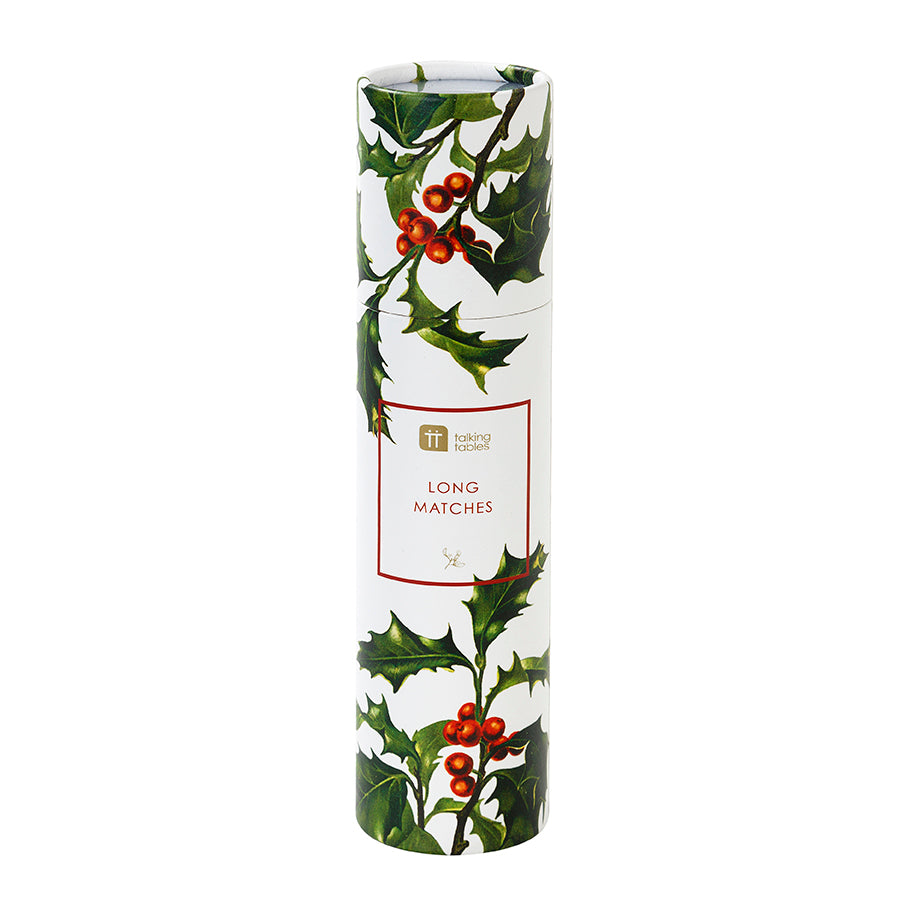 Botanical Christmas Holly Long Matches, TT-Talking Tables, Putti Fine Furnishings