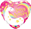 """Happy Birthday"" Unicorn Heart Mylar Balloon, SE-Surprize Enterprize, Putti Fine Furnishings"