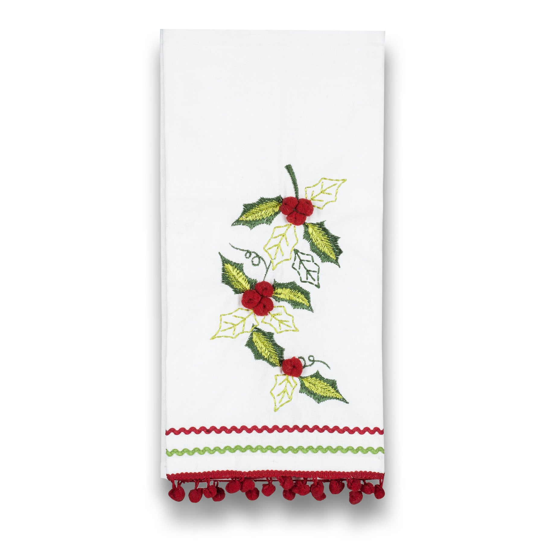 Holly with Pom Pom Retro Hand Towel, AC-Abbott Collection, Putti Fine Furnishings