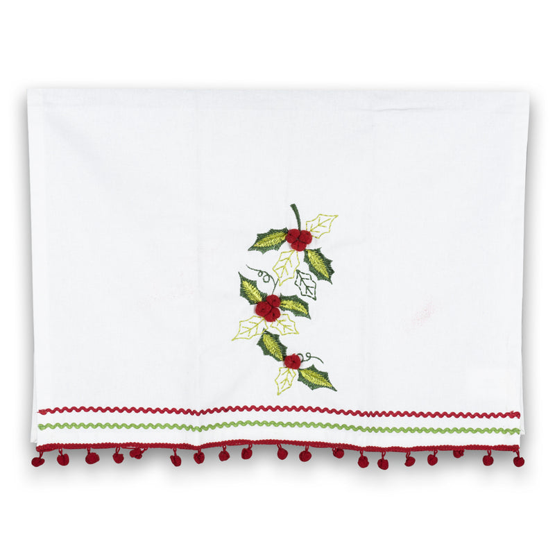 Holly with Pom Pom Retro Hand Towel