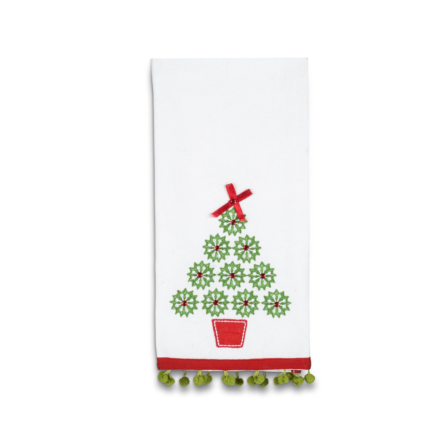 Gem Christmas Tree Retro Hand Towel, AC-Abbott Collection, Putti Fine Furnishings