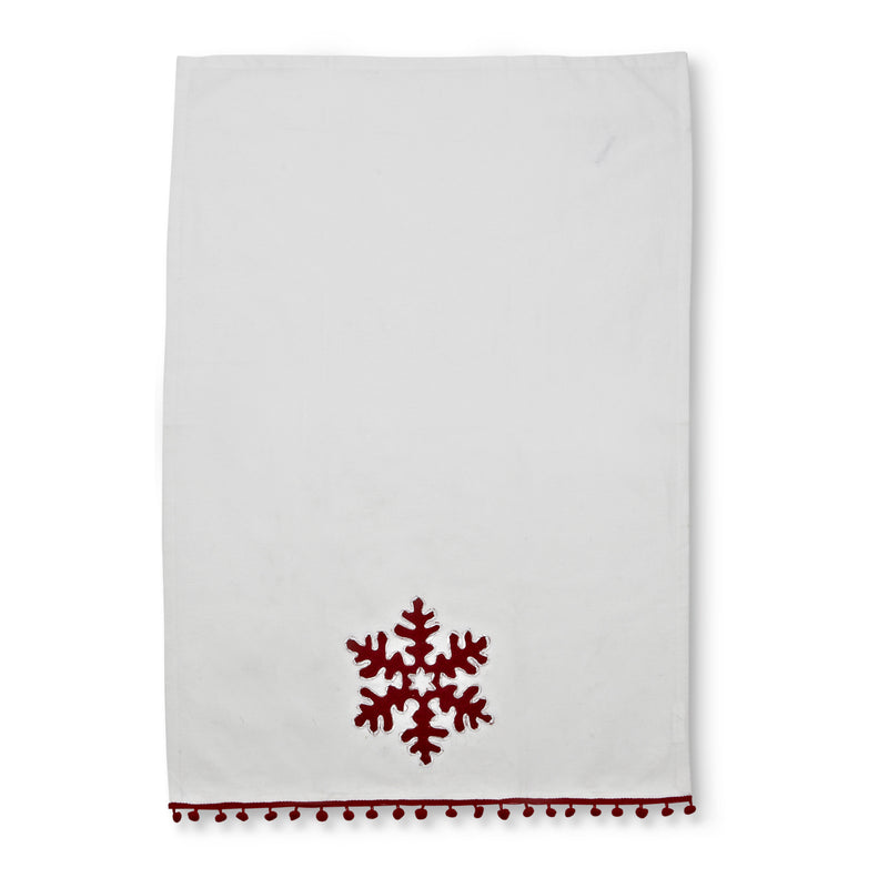 Snowflake Retro Hand Towel, AC-Abbott Collection, Putti Fine Furnishings
