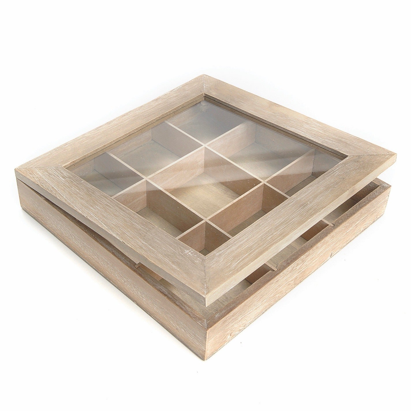 Wood Curiosity Box with Glass Lid  | Putti Fine Furnishings