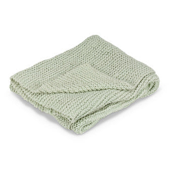 Cross Knit Throw - Mint