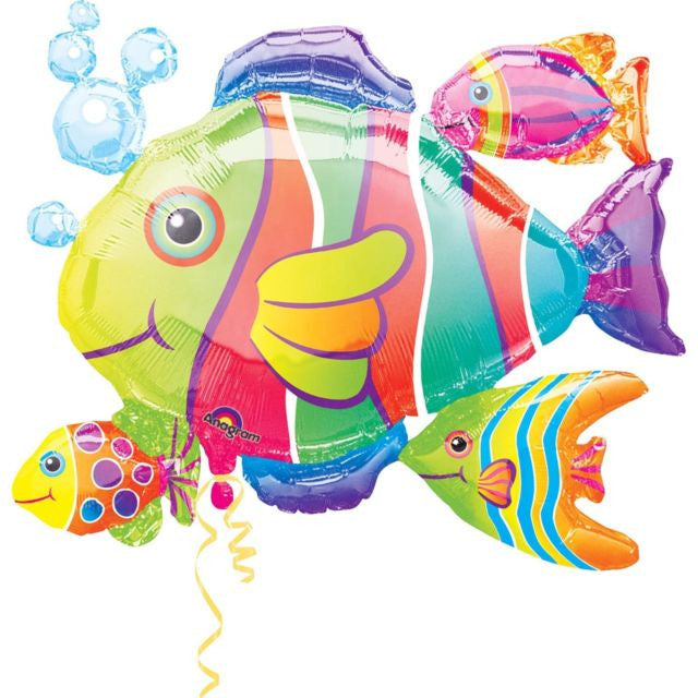 """Tropical Fish"" Mylar Balloon, SE-Surprize Enterprize, Putti Fine Furnishings"