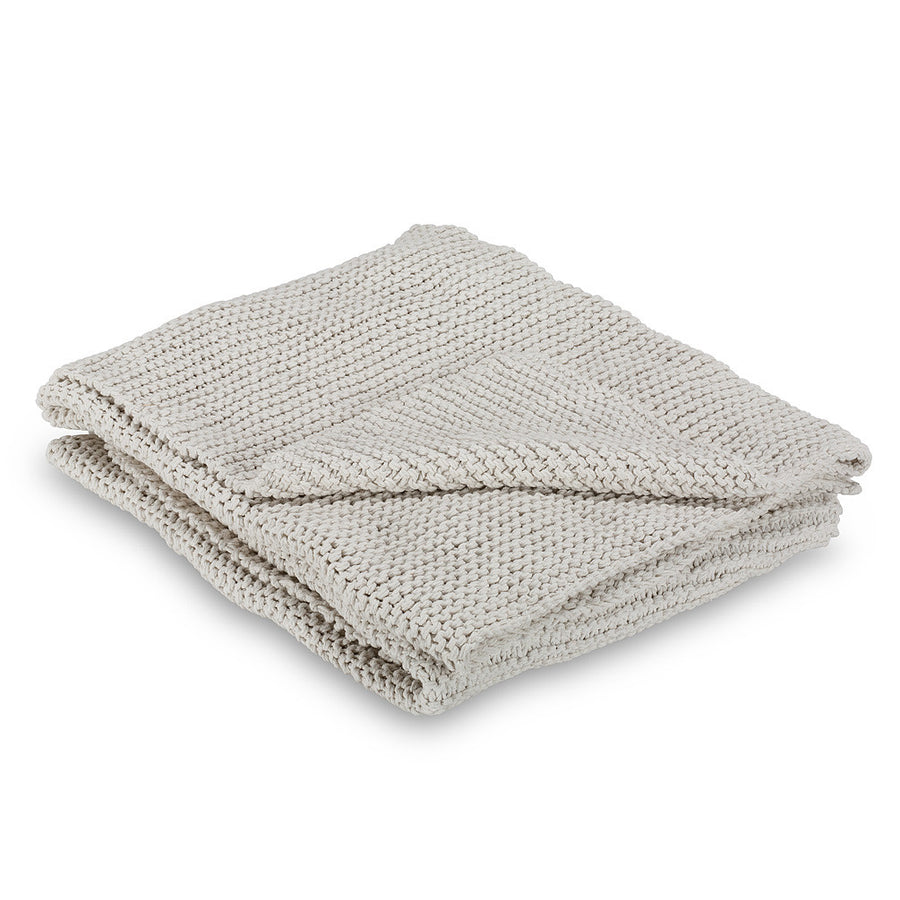 Cross Knit Throw - Ivory