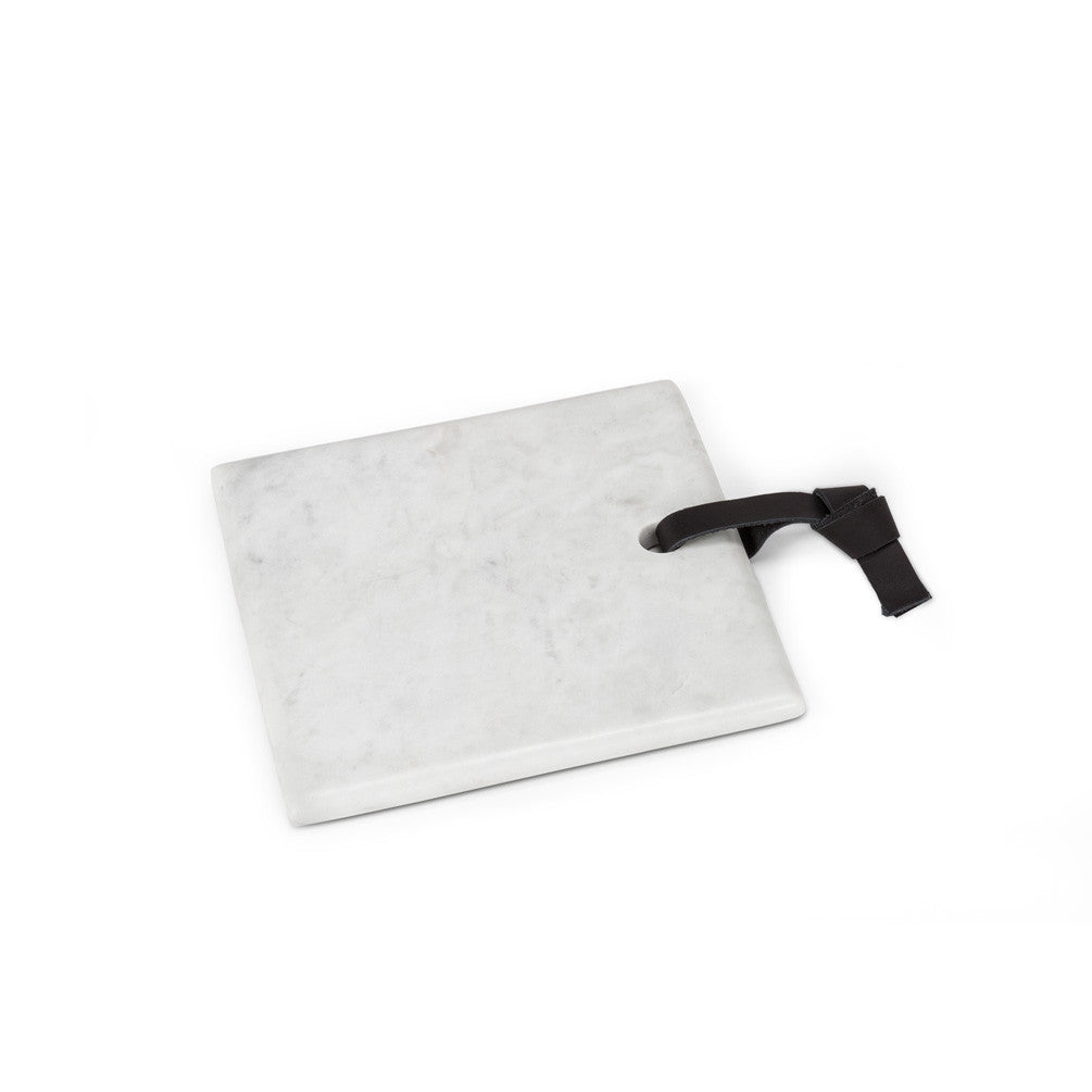 White Marble Serving Board - Square -  Serving Pieces - Abbot Collection - Putti Fine Furnishings Toronto Canada - 1