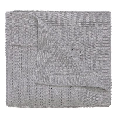 Elegant Baby Grey Seed Knit Star Blanket, EB-Elegant Baby, Putti Fine Furnishings