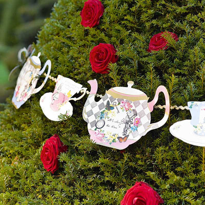 Truly Alice Teapot Bunting -  Party Supplies - Talking Tables - Putti Fine Furnishings Toronto Canada - 4