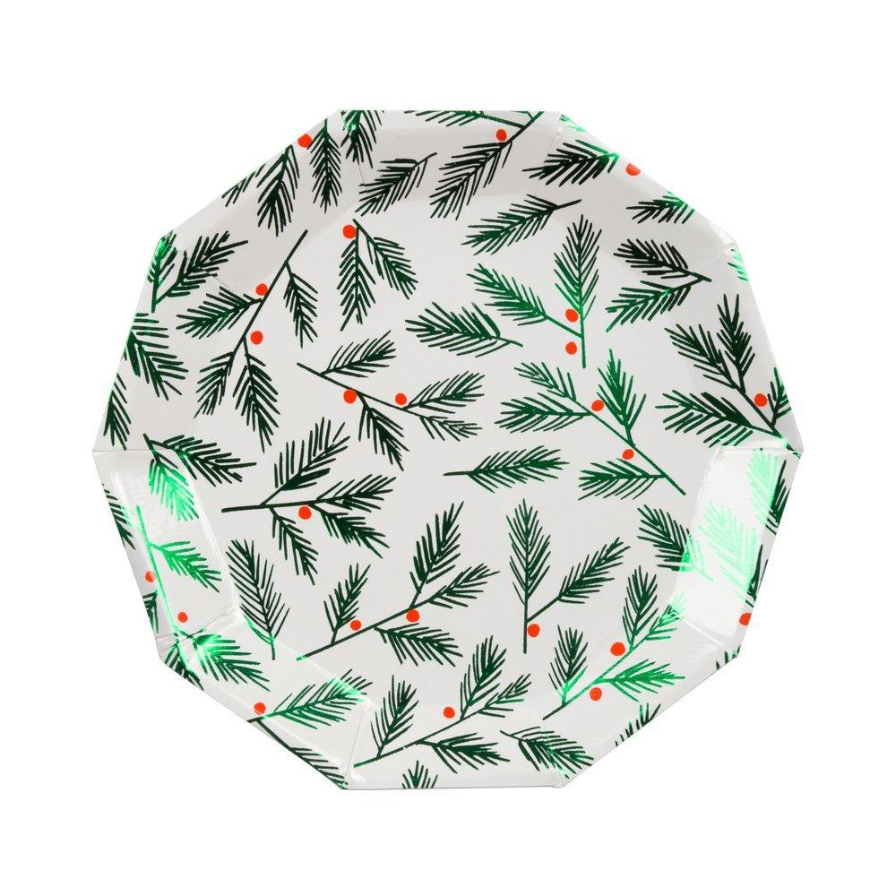 Meri Meri Festive Leaves & Berries Paper Plate | Putti Christmas Canada