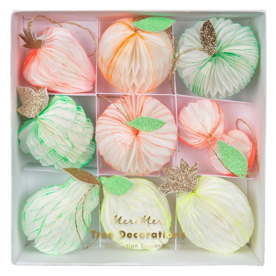 Meri Meri Fruit Honeycomb Paper Baubles