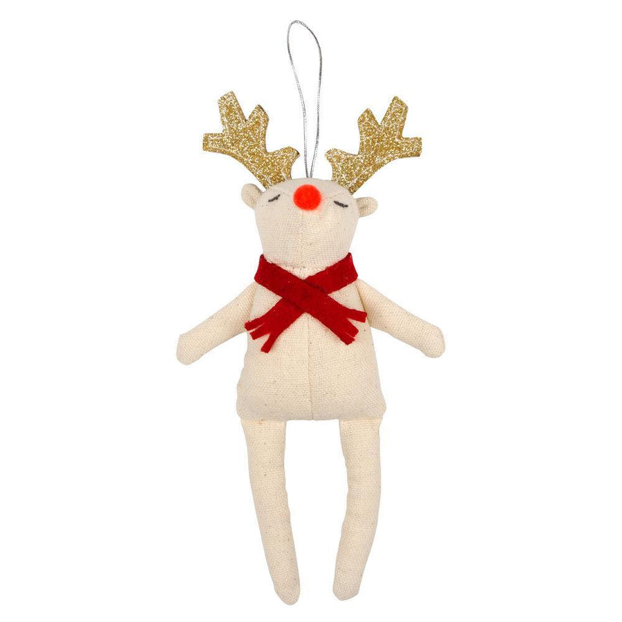 Meri Meri Red Scarf Reindeer Tree Decoration