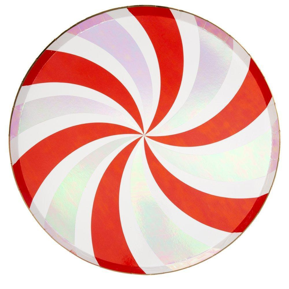 Meri Meri Peppermint Swirl Paper Plate - Large | Putti Party Supplies