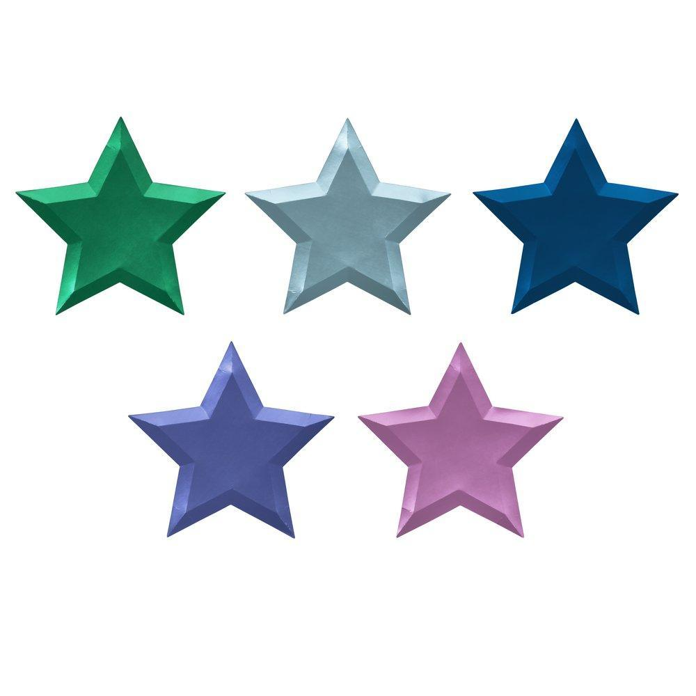Meri Meri Metallic Foil Star Paper Plates | Putti Party Supplies Canada
