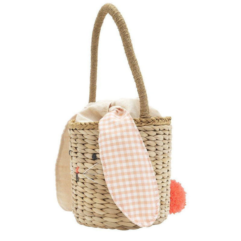 Meri Meri Gingham Bunny Straw Bag | Putti Easter Accessories