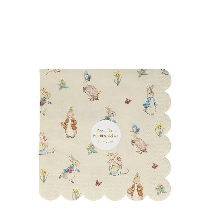 Meri Meri Peter Rabbit & Friends Paper Napkins - Large | Putti Party Supplies