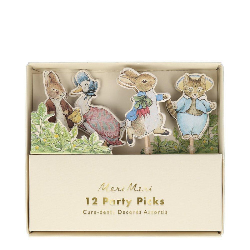 Meri Meri Peter Rabbit & Friends Party Picks  | Putti Party Supplies