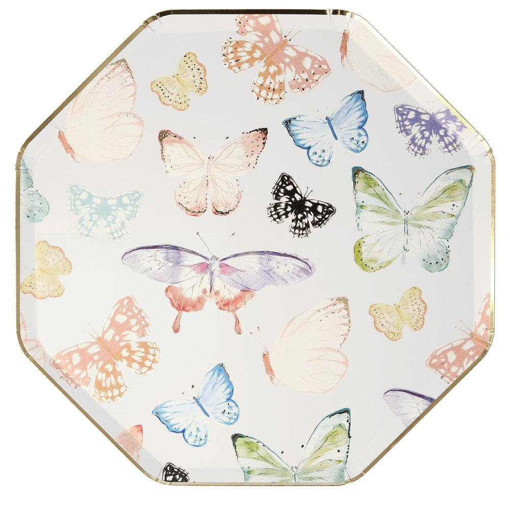 Meri Meri Butterfly Paper Dinner Plates | Putti Party Supplies