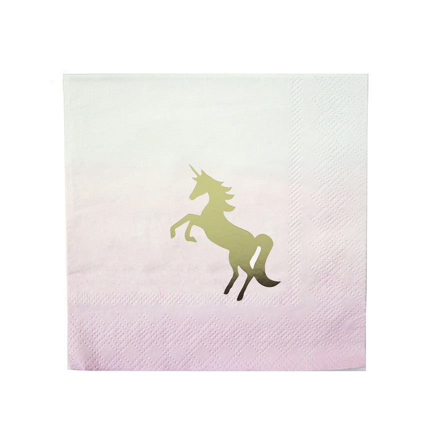 """We Heart Unicorns"" Napkins - Small"